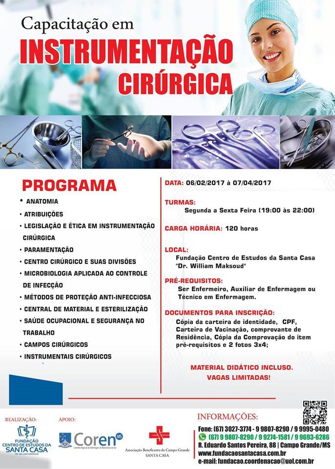 Curso de instrumentacao cirurgica em salvador